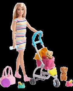 Barbie Deluxe Puppy Stroller Doll